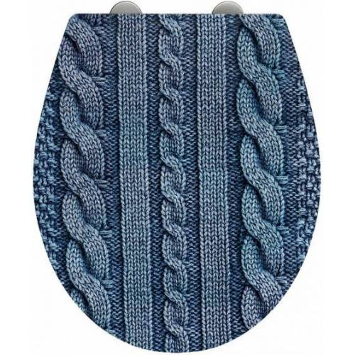 Wenko Toilettensitz Cozy 37,5 x 44,5 cm blau