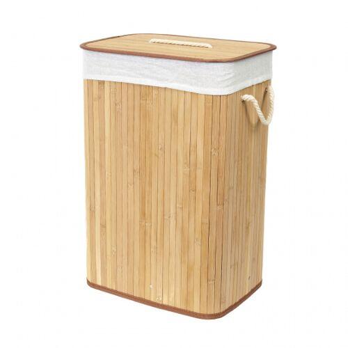 Compactor wäschekorb Bambus 45 x 35 x 60 cm braun