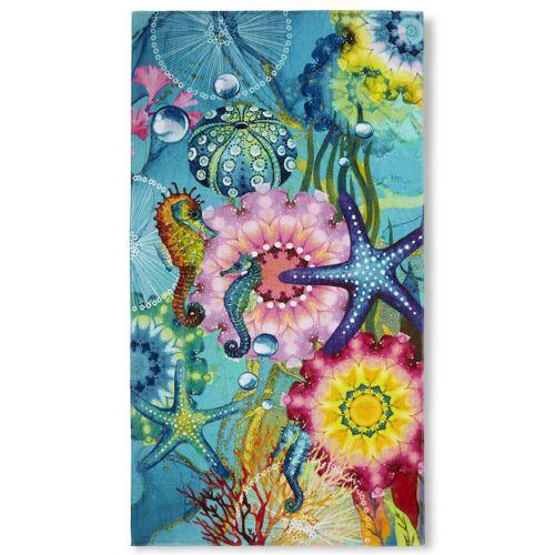 Hip strandtuch Amada 100 x 180 cm Baumwolle blau