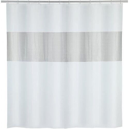 Wenko duschvorhang 200 x 180 cm EVA weiß/grau