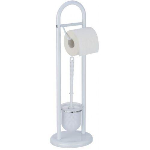 Wenko toilettenpapier mit Toilettenbürstenhalter Siena 63 cm Stahl weiß