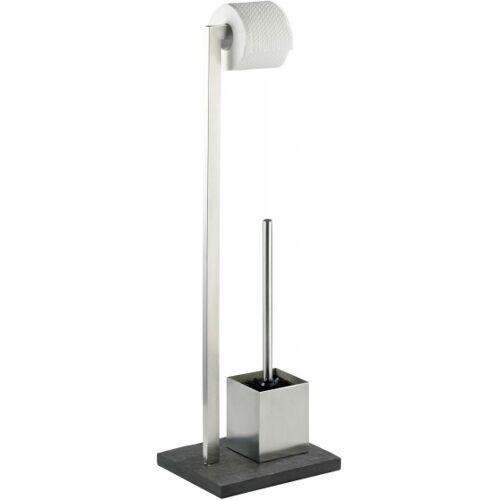 Wenko toilettenpapier /Toilettenbürstenhalter Slate Rock 73,5 cm silber