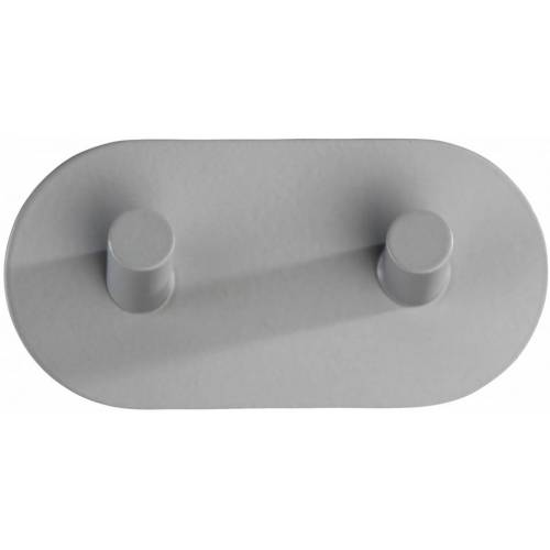 Wenko wandhaken doppelt selbstklebend 10 x 2,8 x 5 cm Edelstahl grau