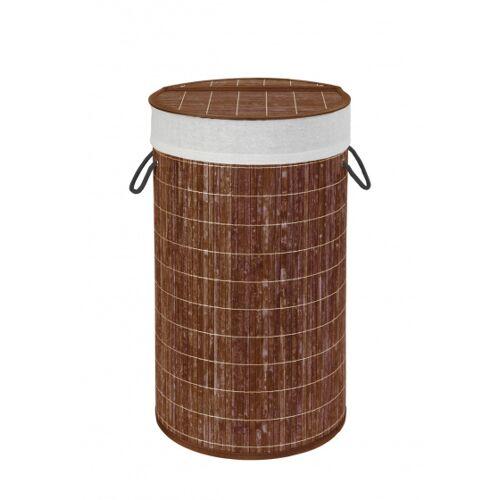 Wenko wäschekorb 55 Liter 35 x 60 cm Bambus braun