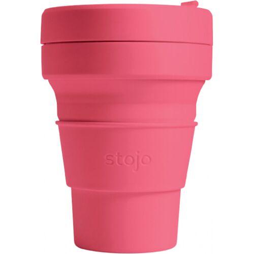 Stojo to go Becher Pocket Peony faltbar 355 ml PP rosa