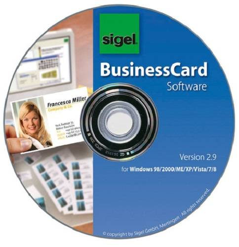 Sigel software BusinessCard für Visitenkarten mehrsprachig