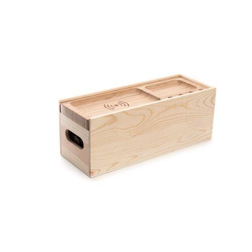 Rackpack weinkiste mit kabellosem Ladegerät 34,4 cm Holz braun