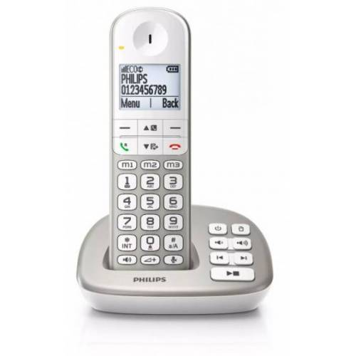 Philips XL495 Schnurlostelefon mit Anrufbeantworter grau