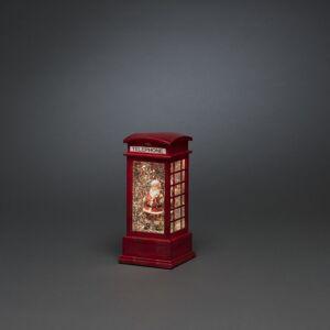 Konstsmide weihnachtsdekoration Telefonzelle 9,5 x 20 cm rot