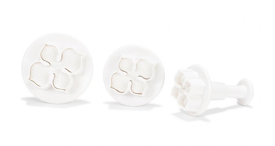 Patisse hervorstehende Formen Blume Kunststoff weiß 3 teilig