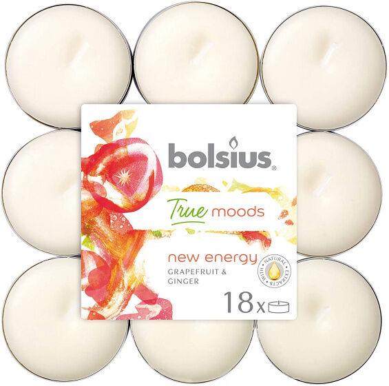 Bolsius fragrance light True Moods Neue Energie Wachs weiß 18 Stück