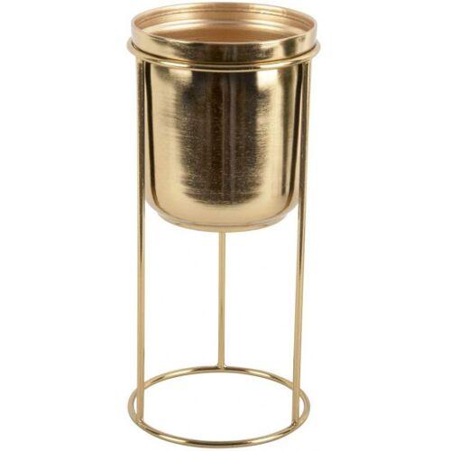 Present Time blumentopf auf Ständer Tub 32 x 18 cm Stahl gold
