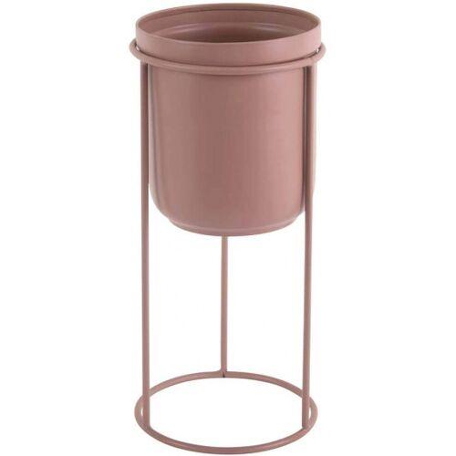 Present Time blumentopf auf Ständer Tub 32 x 18 cm Stahl rosa