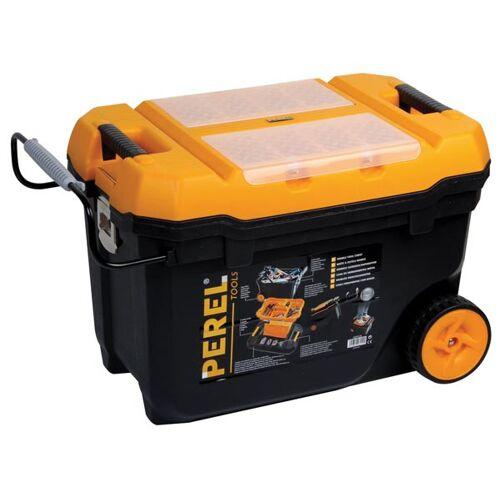 Perel werkzeugkoffer 67 x 42 x 40 cm schwarz/orange