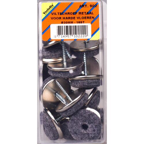 Verlofix filzgleiter mit Schraubendurchmesser 30 mm Chrom 16 Stück