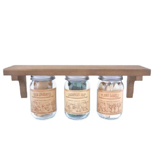 Esschert Design gartenregal Opa's berghok Holz/Glas braun