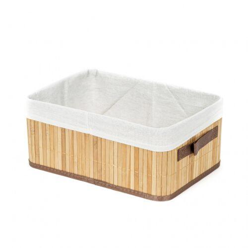 Compactor aufbewahrungskorb Bambus 35 x 25 x 15 cm braun