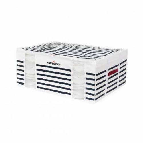 Compactor vakuum Aufbewahrungskorb 65 x 50 x 27 cm blau / weiß