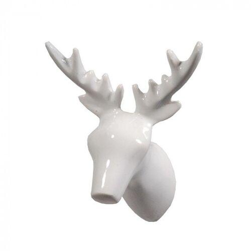 The Zoo garderobe 8Dear Deer,5 x 7 x 9 cm Polystone weiß