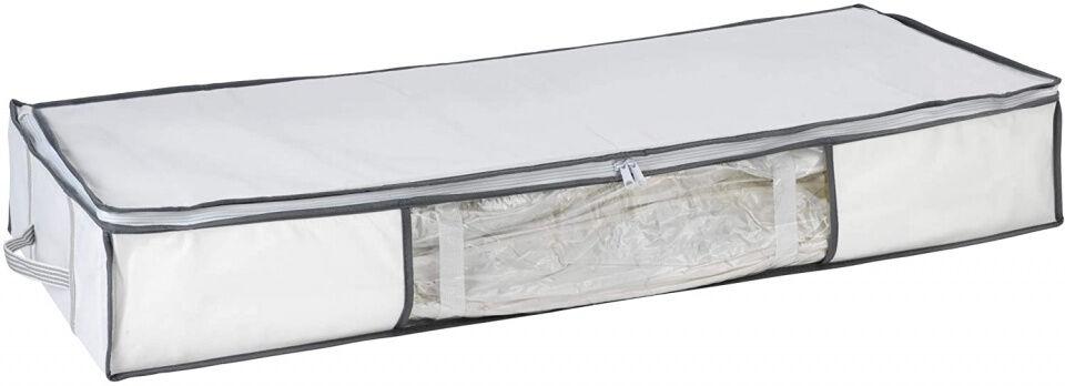 Wenko vakuum Speicherkasten 105 cm 70 Liter Polypropylen weiß/grau