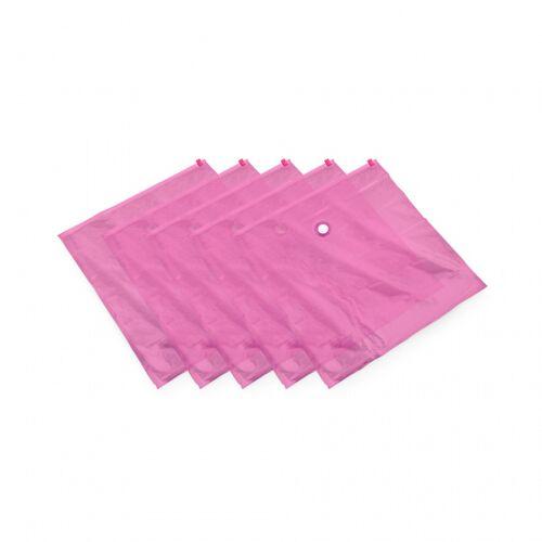 Compactor vakuum Aufbewahrungsbeutel 100 x 80 cm rosa 5 Stück