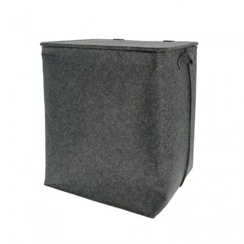 Compactor rechteckiger Papierkorb Filz grau