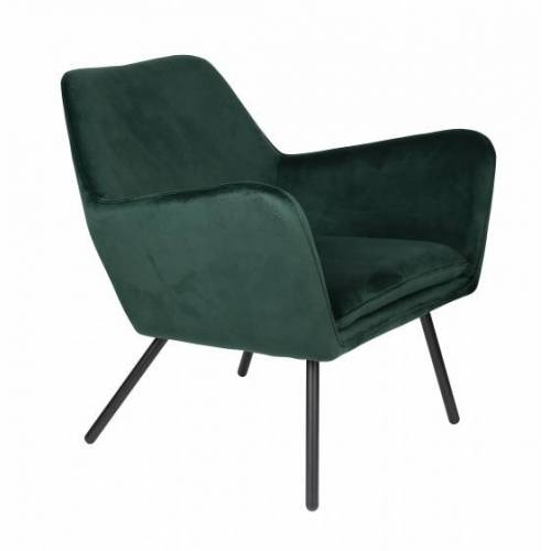 Luzo stuhl Bon 80 x 76 x 78 cm Leder/Stahlgrün
