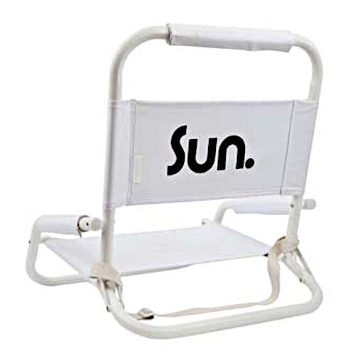 Sunnylife strandkorb Eco 59 x 58 cm Aluminium/Polyester weiß