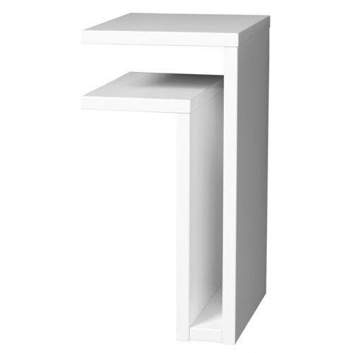 Maze wandtisch F Regal links 42 x 21 x 25 cm Holz weiß