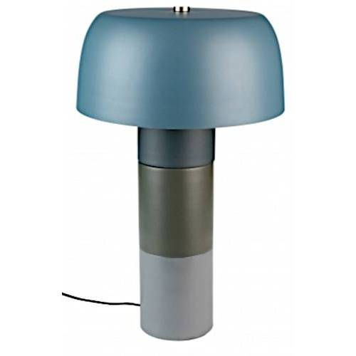 Feliz tischlampe Muras 55 x 34 cm Stahl blau/grau