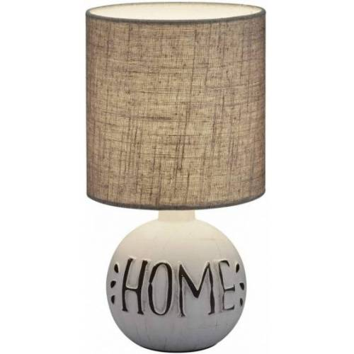 Reality tischlampe Esna 31 cm Keramik/Textil grau