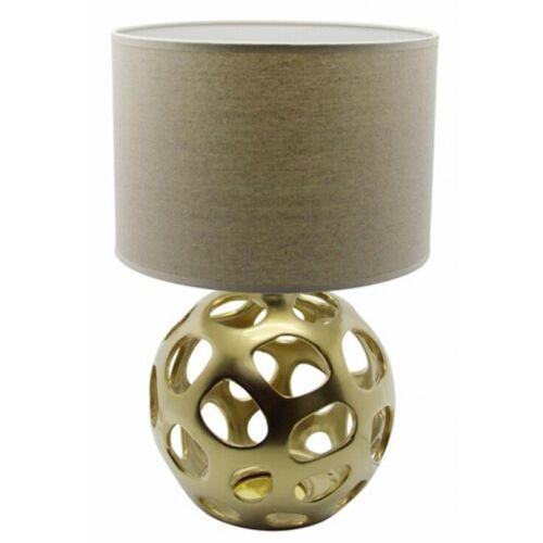 Rox Living tischlampe 25 x 40 cm Keramik/Textil gold/braun