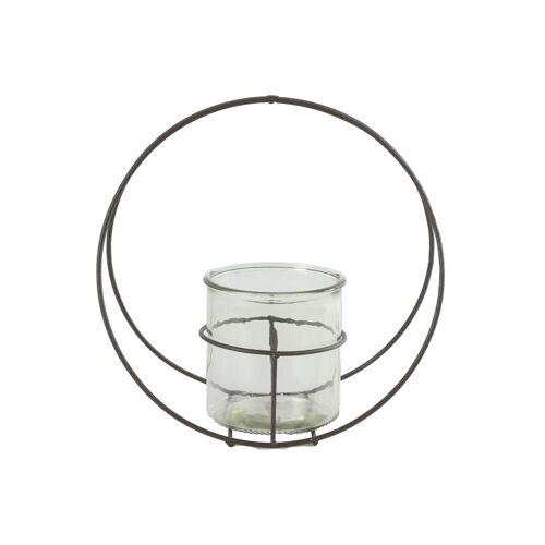 Countryfield blumentopfhalter Colin L 11 cm Zink/Glas grau