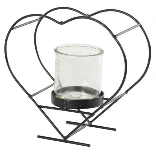 Countryfield blumentopfhalter Darla 20,5x19,5cm Stahl/Glas braun