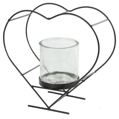 Countryfield blumentopfhalter Darla 9,5 cm Stahl/Glas braun