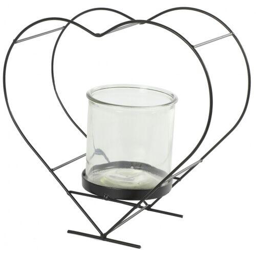 Countryfield blumentopfhalter Darla 30,5 x 28 cm Stahl/Glas braun