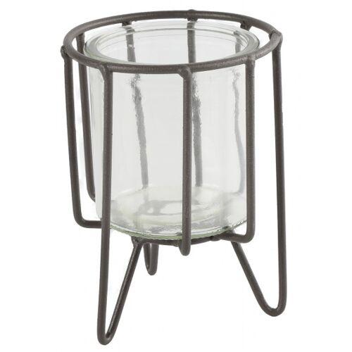 Countryfield blumentopfhalter Hilly 7,5 cm Stahl/Glas braun