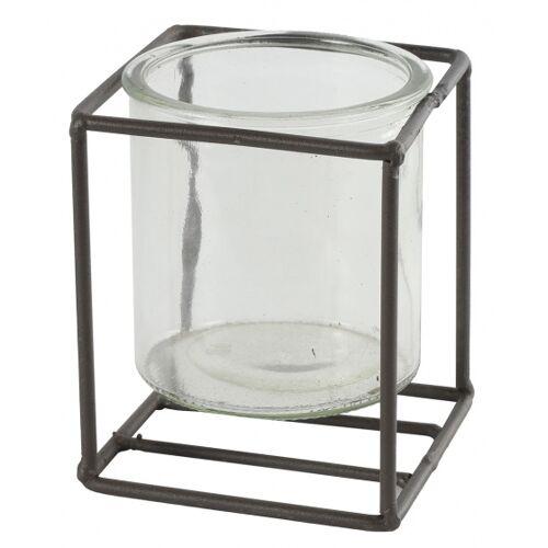 Countryfield blumentopfhalter Katia 10 x 8 cm Stahl/Glas braun