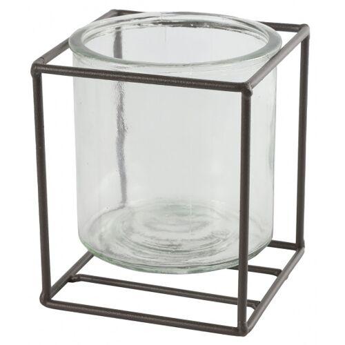 Countryfield blumentopfhalter Katia 14 x 12 cm Stahl/Glas braun