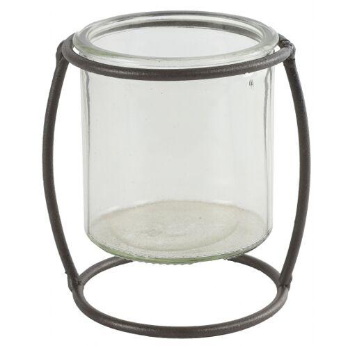 Countryfield blumentopfhalter Netti 10,5 cm Stahl/Glas braun