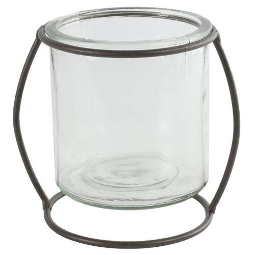 Countryfield blumentopfhalter Netti 14 cm Stahl/Glas braun