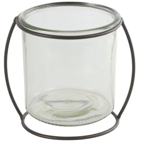 Countryfield blumentopfhalter Netti 16 cm Stahl/Glas braun