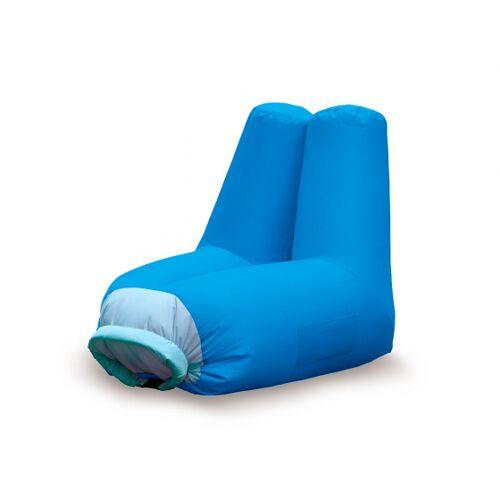 Balvi sitzsack aus aufblasbarem Polyester 82 x 72 cm blau