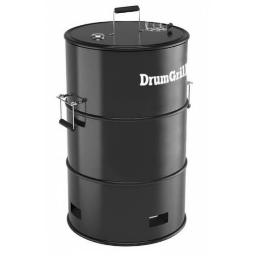 DrumGrill raucher 57 x 92 cm Stahl schwarz 4 teilig