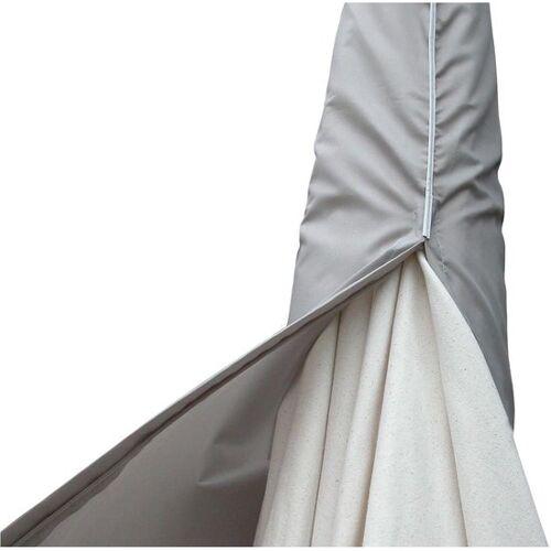 Eurotrail schwimmende Sonnenschirmhülle XL 280 x 90 cm Polyester grau