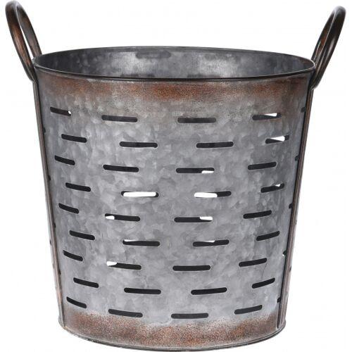 Pro Garden blumentopf rund Metall 29x29x27cm