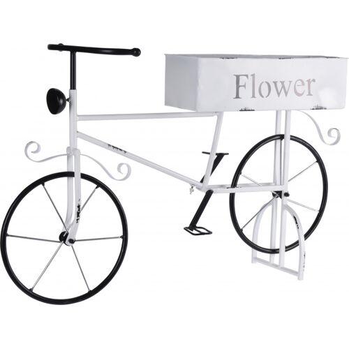 Pro Garden blumentopfhalter Fahrrad 67 x 16 x 47 cm Stahl weiß