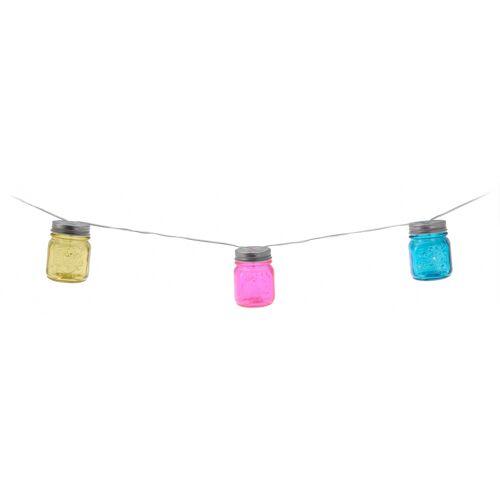 Pro Garden party Beleuchtung 24 LED Schnur 650 cm silber