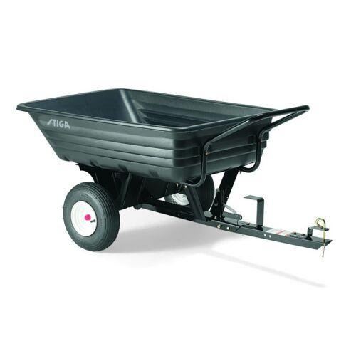 Stiga kombi Anhänger 180 Liter 123 x 84 cm schwarz