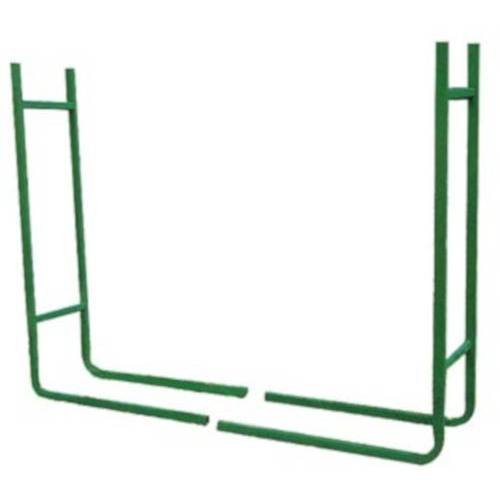Toolland kaminholzhalter 120 x 20 cm Stahl grün